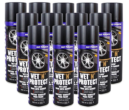 12 Stück No Touch Wet`n Protect 500 ML Reifenglanz