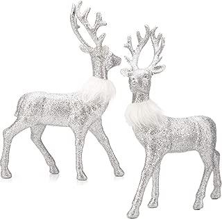 glitter deer christmas decor