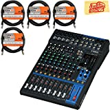 """12-Channel Mixing Console Max. 6 Mic / 12 Line Inputs (4 mono + 4 stereo) 2 GROUP Buses + 1 Stereo Bus 2 AUX (incl. FX) """"D-PRE"""" mic preamps with an inverted Darlington circuit"""