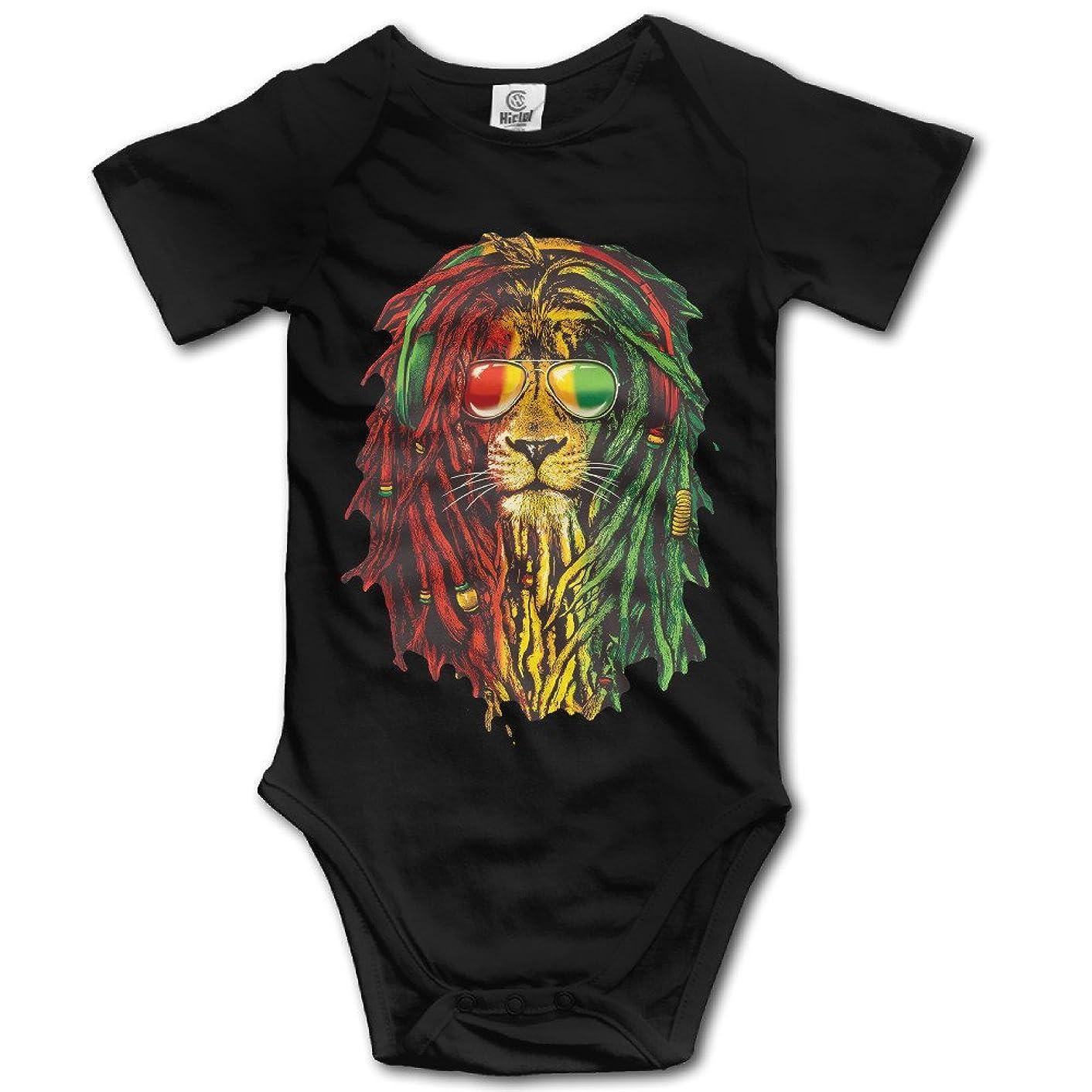 NUBIA Toddler Lion Rasta Style Short Sleeve Romper Bodysuit Black
