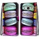 nancencen Coque Portefeuille Compatible avec Samsung Galaxy J7 2016 / SM-J710, Flip Étui Case...