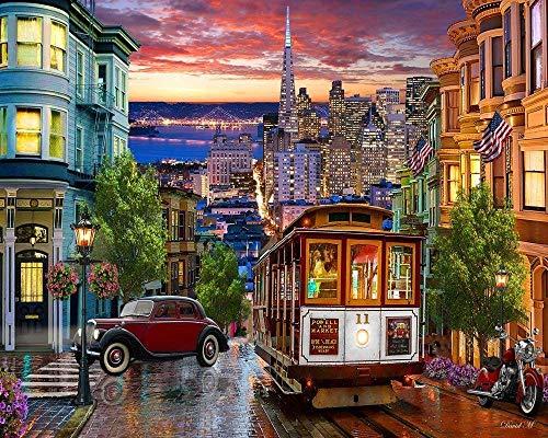 OT-706 DoDoUp 1000 Pezzi Puzzle Jigsaw Puzzle di 1000 Pezzi Carrello San Francisco Ogni Pezzo è Pezzi Unici Che Si incastrano Perfettamente