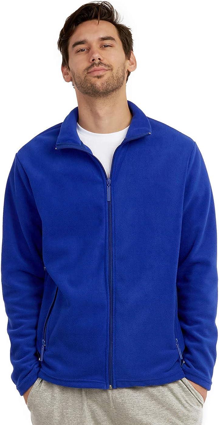ET TU Men's Zip Up Polar Fleece Jacket