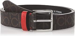 Calvin Klein Jeans Women's 3CM MONOGRAM Belts, Black (Dark Brown BAW), Size: 85