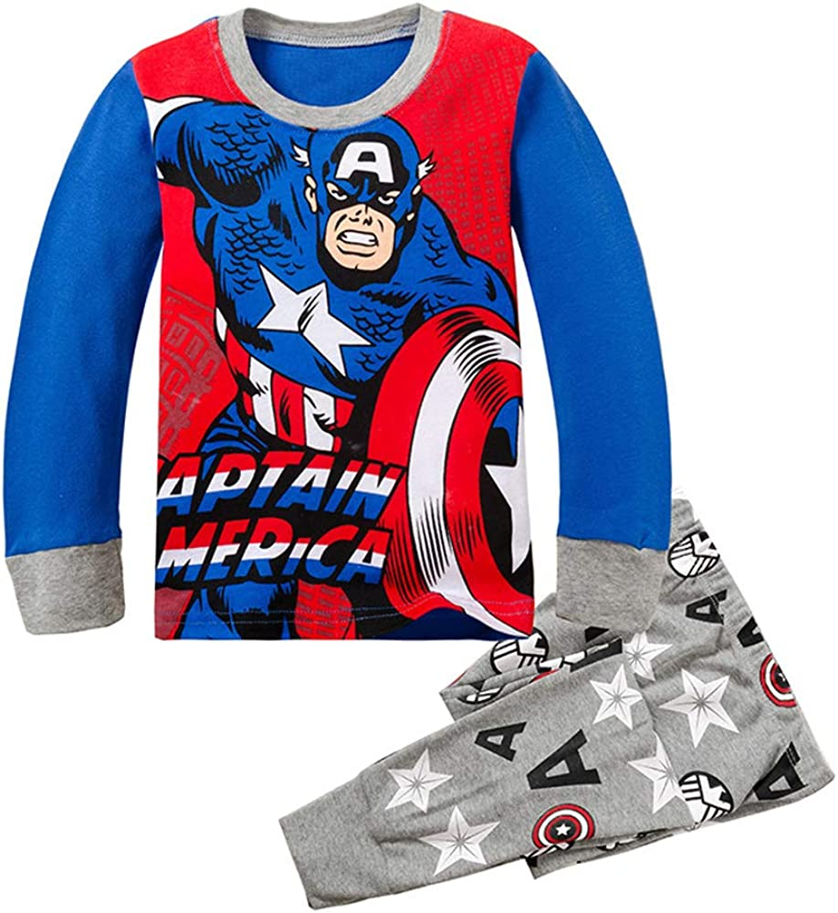 Spider-Man Super Hero Boy's Pajama Clothes Popular shop is the lowest price challenge Set Sleeve Cotto Long Ranking TOP6