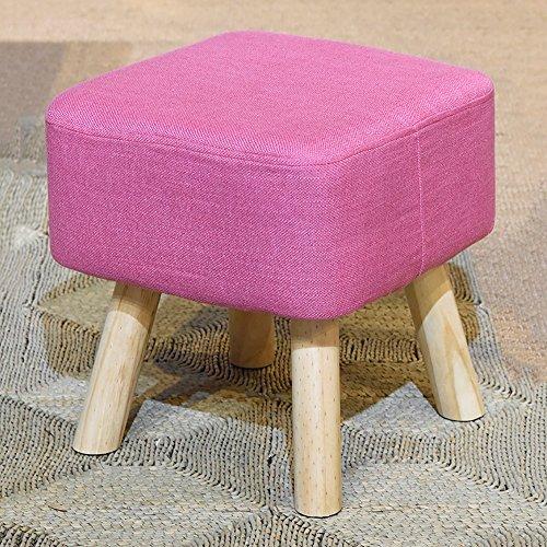 GYH Chaises hautes LJHA ertongcanyi Tabouret créatif de Bois Solide/Tabouret de Sofa/Tabouret de Chaussure/Banc de pièce d'essayage/Repose-Pieds (4 Couleurs facultatives) (Couleur : Pink)