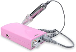 power pink : Loel 12w Power Bank Electric Mini Portable Nail Polishing Machine + Multifunction Cellular Phone Charge Wire