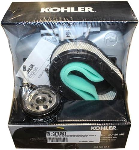 2021 Kohler 7000 Series Maintenance Kit 32-789-02-S 10W-30 Pre Cleaner Fuel Filter Air lowest Filter outlet sale Spark Plug outlet online sale