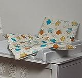 Completo conjunto set de carrito cochecito de nino bebé 80x70 (colcha) (patrón: Carneros pequenos de color)