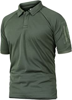 Men's Military Short Sleeve Shirt Cargo Tactical Pullover Outdoor T-Shirt Army Combat Polo Shirts