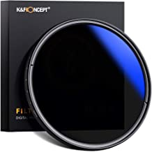 K&F Concept 58mm ND Fader Variable Neutral Density Filter ND2 to ND400 for Camera Lens Ultra-Slim, Multi Coated