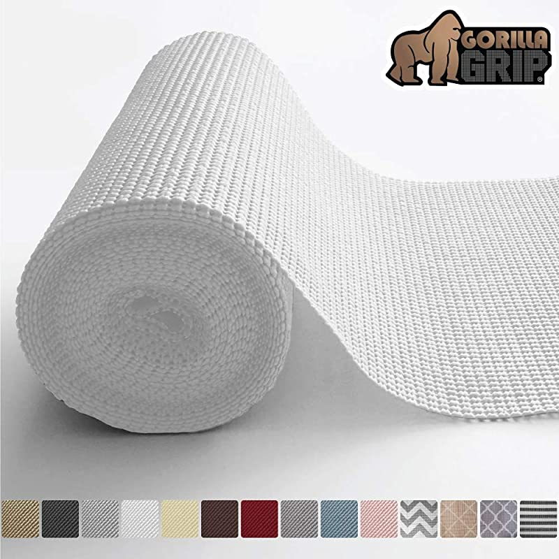 Gorilla Grip Original Drawer And Shelf Liner Non Adhesive Roll 12 Inch X 20 FT Durable And Strong Grip Liners For Drawers Shelves Cabinets Storage Kitchen And Desks Snow