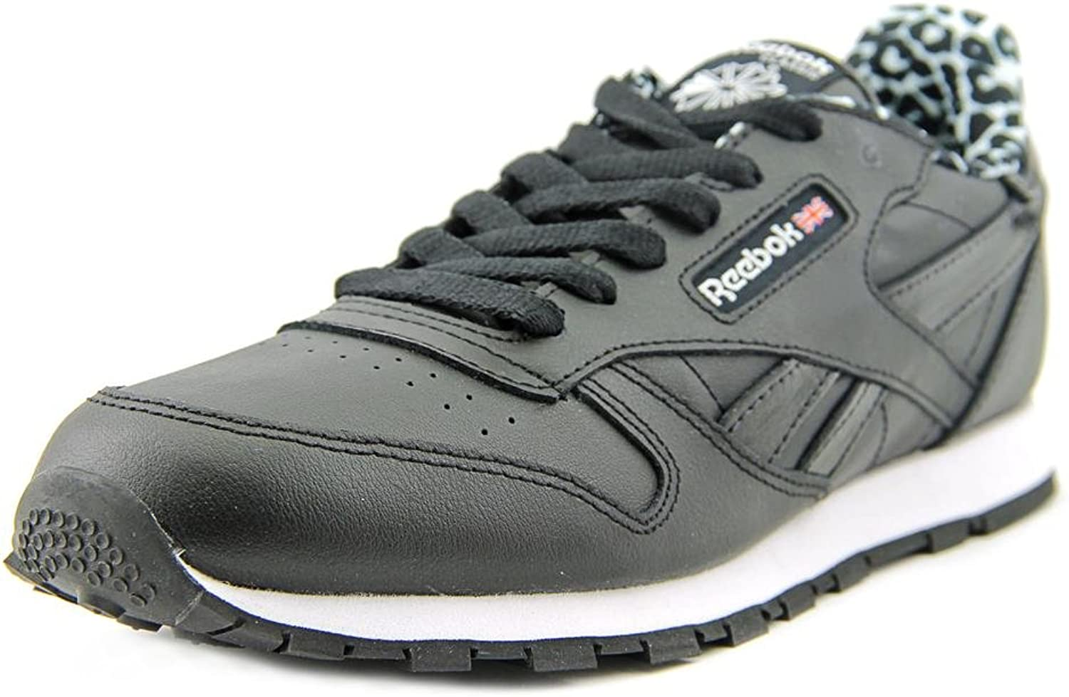 Reebok Classic Leather Animal Youth US 6 Black Sneakers