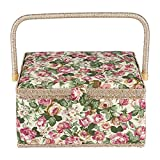 Greensen Sewing Basket, Sewing Kit Storage Box with Removable Tray, Sewing...