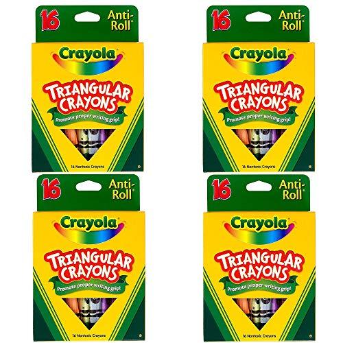 Crayola 16ct Triangular Crayons, 4 Pack