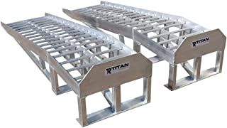 Titan Low Profile Aluminum Car Ramps Pair 3,000 LB Capacity for Service and Display