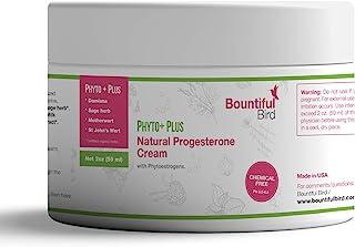 Bountiful Bird Phyto Plus Natural Progesterone Cream, 2oz, Organic Phytoestrogens, Bioidentical Progesterone, Hormone Bala...