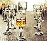 OMIVA Wine & Whisky Glass - Set of 12-180ml - Crystal Clear Diamond Glass, Elegant Party Drinking Glassware, Dishwasher Safe, Restaurant Quality