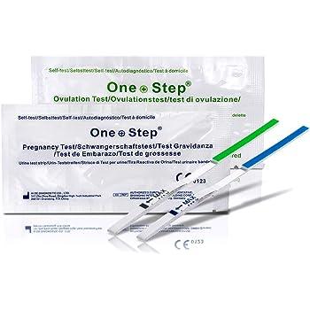 One Step 50 x Test di ovulazione ultrasensibili (20mIU/ml) + 10 x Test di Gravidanza ultrasensibili 10 mIU/ml