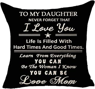 To My Daughter Never Forget I Love You Life Hard Good Time Learn Everything Be The Woman You Can Be Love Mom Blessing Thro...