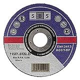SBS 100 dischi da taglio in inox, 115 x 1,0 mm, per flessibile o smerigliatrice angolare...