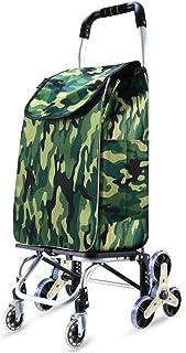 Fresh wild simple fashion Shopping Cart Hand Luggage Cart Shopping Trolley Small Pull Cart Trolley Trailer Household Folda...
