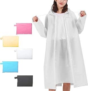 Rain Poncho for Women Men, Reusable Waterproof Rain Ponchos for Adult with Hood