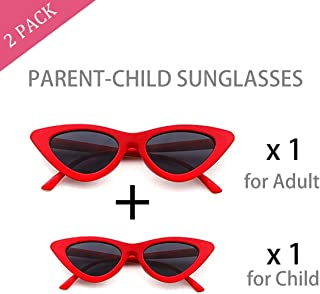 eac9c82fc17 Vintage Cat Eye Sunglasses for Women and Girl Kids
