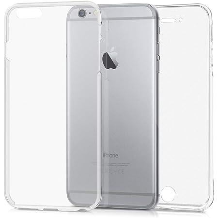 kwmobile Cover Compatibile con Apple iPhone 6 Plus / 6S Plus - Custodia in Silicone TPU Fronte Retro - Front Back Case Protezione Cristallina