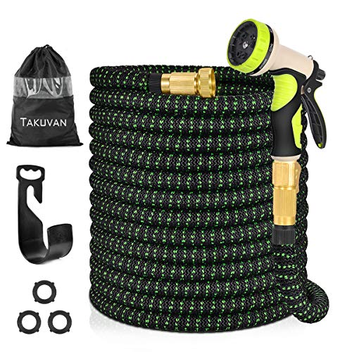 Takuvan 100ft Expandable Garden Hose, Durable Flexible Expanding...