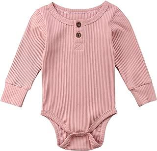 Newbown Baby Boys Girls Knitted Sweather Rompers Sleepwear Long Sleeves Pajamas Fall Winter Bodysuit
