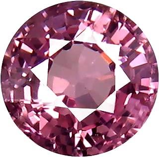 0.68 ct AAA+ Grade Round Shape (5 x 5 mm) Unheated Pink Malaya Garnet Natural Loose Gemstone