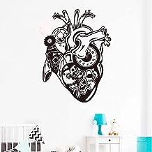 Corazón Mecánico Motor De Coche Calcomanía De Pared Flor Arte Decoración De Oficina Motivación Decoración Del Hogar Sala D...