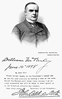 Mckinley Letter 1898 Nthank You Letter Sent On Behalf Of President William Mckinley By His Secretary John Addison Porter F...