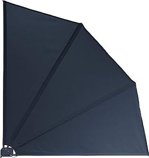 QUICK STAR Sichtschutz Facher 115 X Cm Stoff Balkon Trennwand Windschutz Sonnenschutz Grau
