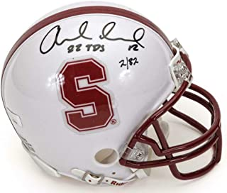 ANDREW LUCK Autographed Stanford Cardinals 82 TD's Mini Helmet PANINI LE