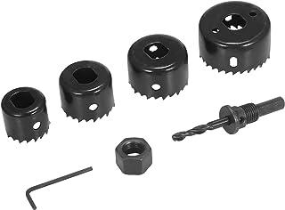 Leepesx Bi-metal Hole Saw Kit 6Pcs Assorted Heavy-duty Hole Saw Set with 4 Saw Blades of 32/38/44/54mm, 1 Mandrel, 1 Hex K...