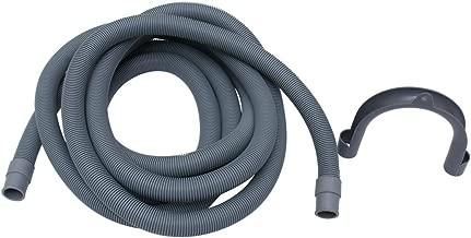 Vosarea Tubo flessibile di scarico della lavatrice da 4 m Tubo flessibile di scarico della lavatrice con supporto a forma di u