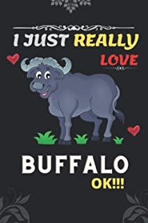 I just really love Buffalo ok!!!: Blank Lined Ruled diary. Cute Notebook for Kids, Girls, Women, Teens and who love Buffalo.