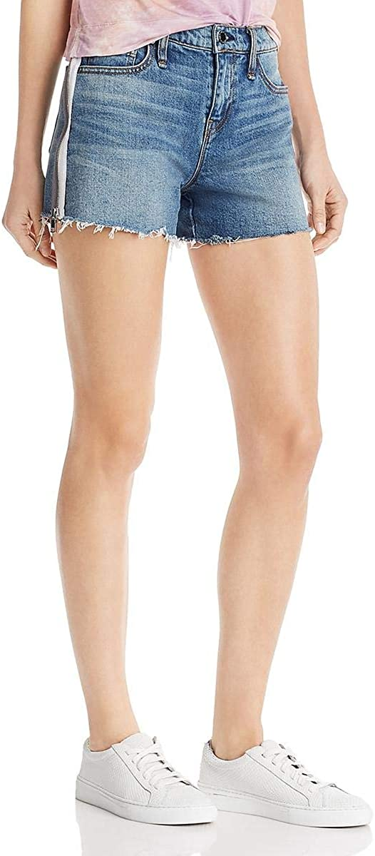 HUDSON Womens Gemma Denim Frayed Hem Cutoff Shorts