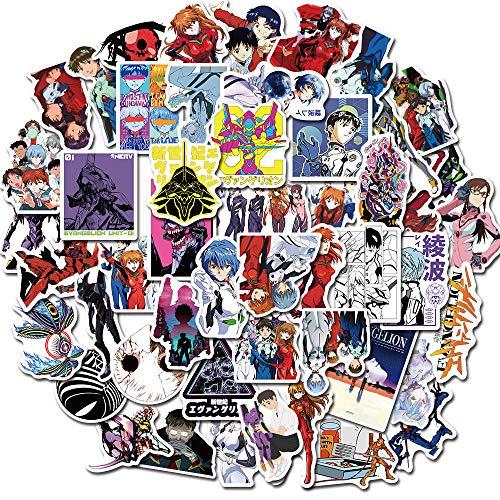 50 unidades de dibujos animados anime Evangelion personaje graffiti impermeable pegatinas maleta equipaje decoración al por mayor 50 unidades