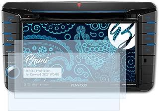 2X Bruni Pel/ícula Protectora para Clarion VX404E Protector Pel/ícula Claro L/ámina Protectora
