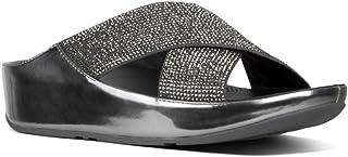 Fitflop Comfort Sandals for Women - Black & Grey 3 UK