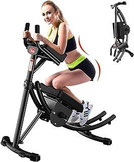 Bukens övningsmaskin vikbar magträningsmaskin, med antaldisplay, öka den roterbara knävadderingen, gym träningsskor buken...