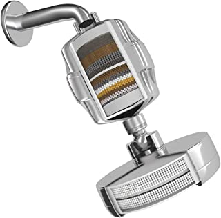BlueWhales High Pressure Filtered Shower Head with Shower Filter Set for Hard Water Improves the Condition of Skin Hair and Nails - BW-01