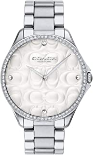 Coach Women's Modern Sport Steel Bracelet & Case Quartz Silver-Tone Dial Analog Watch 14503066