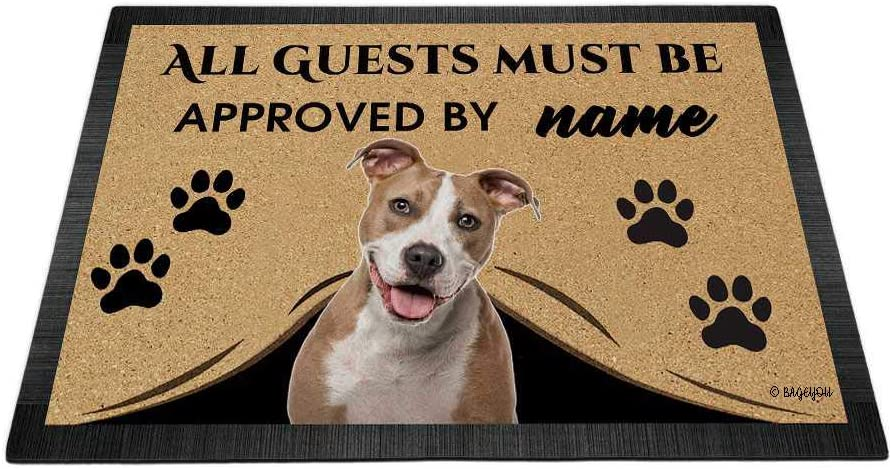 BAGEYOU All Sales Guests Must be Approved Popular standard Love Dog with My Doormat Sta
