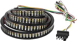 YITAMOTOR 60 inches Triple LED Truck Tailgate Light Bar Strip Amber Turn Signal, Red Brake Running Lights, White Reverse Lighting, 504 LEDs Waterproof for Pickup, RV, SUV, Boats (3 row leds)