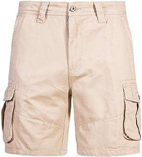 Macondoo Men's Solid Rugged Casual Men Multi Pocket Straight Cargo Shorts