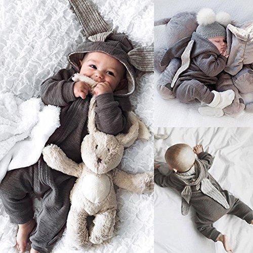 ZHOUBA Baby Jungen (0-24 Monate) Spieler grau 3-6M